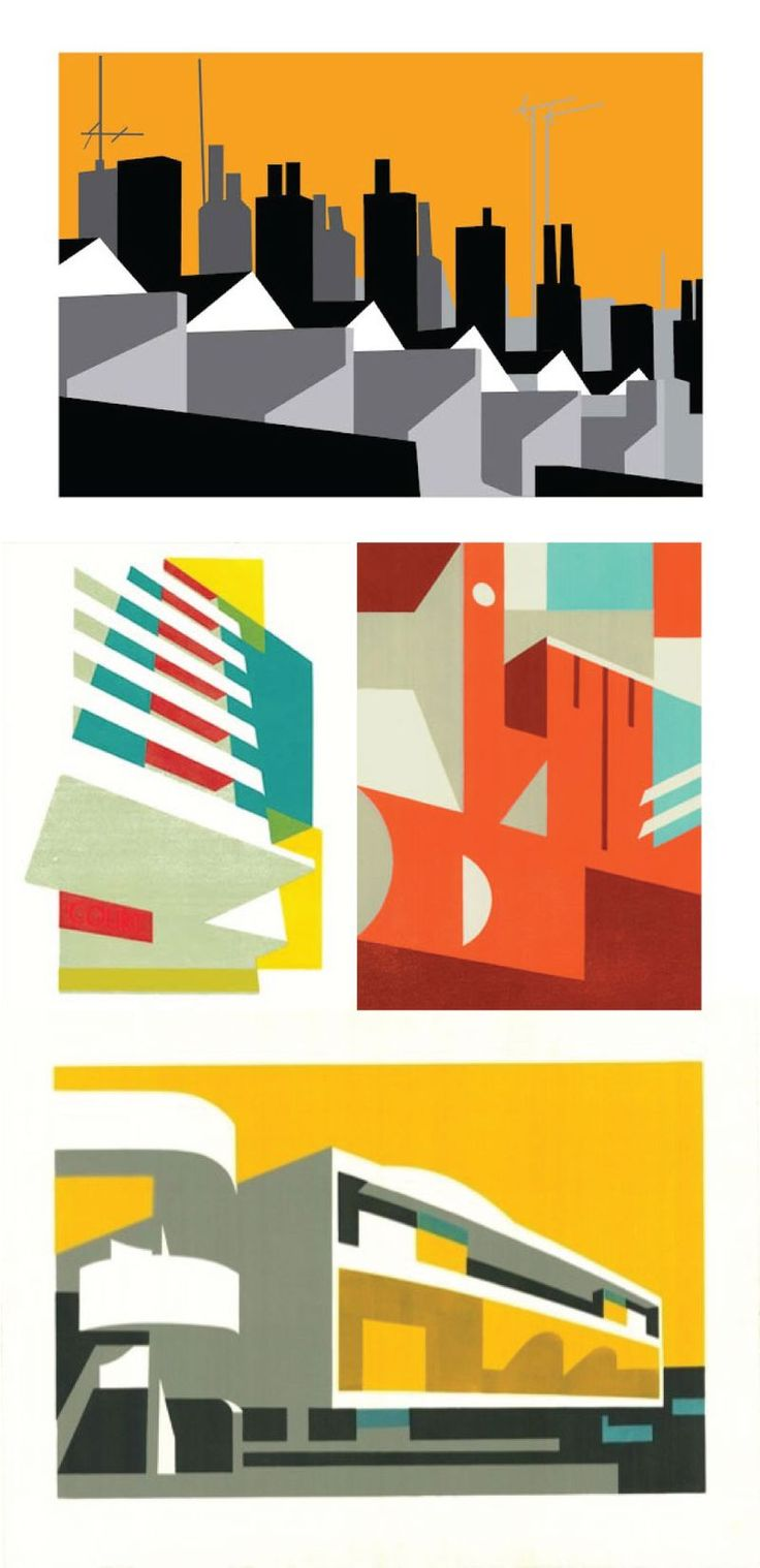 Really loving the work of London-based printmaker and illustrator, Paul Catherall.  His illustrations are so striking and are certainly the epitome of the attitude that 'less is more'.  Admiring the block of flat colors and simplified shapes. You can see more of his designs here on his website.