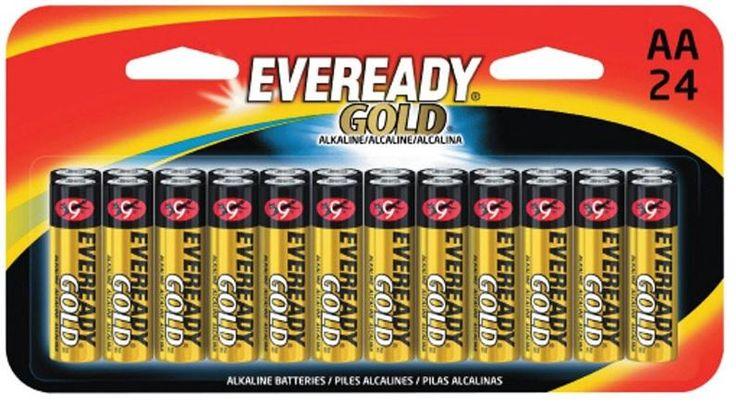 Eveready A91BP24HT Gold Alkaline Batteries, AA