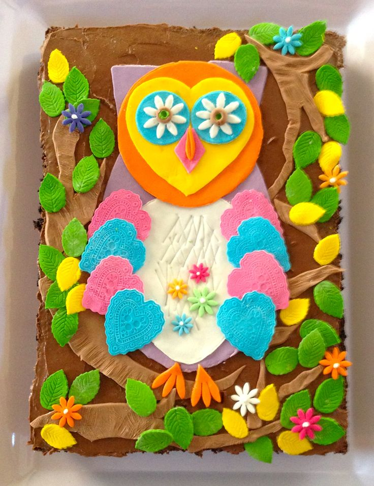Wise Little Owls Birthday Cake