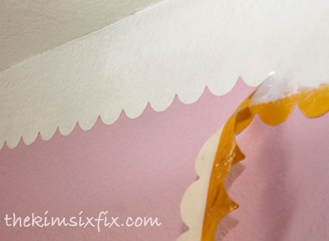 A Painted Faux Eyelet Border.. Instead of Crown Molding :: Hometalk