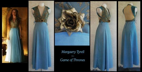 A Margaery Tyrell commission I just finished for someone, its on its way now! I cant wait to see pictures of it on her, I loved making this one.