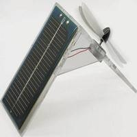 Stay cool this summer and show off your green credentials with this solar powered fan.