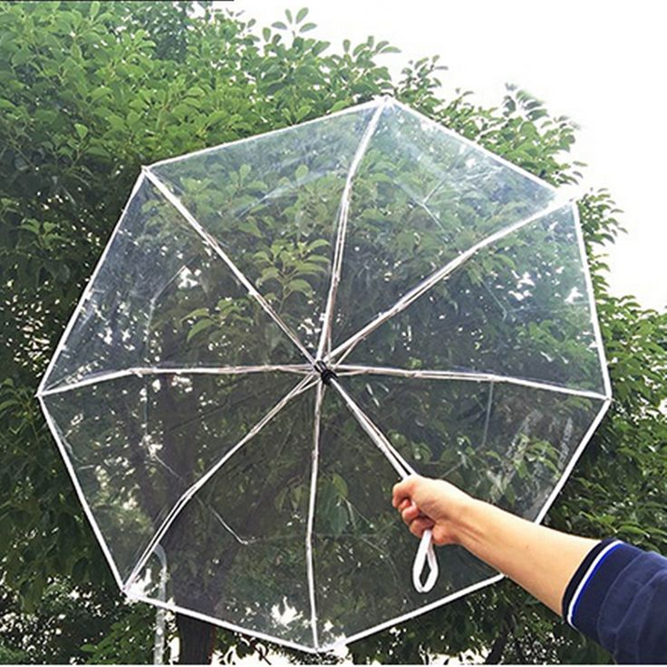 High-quality Automatic Open Close Folding Transparent Umbrella Compact Windproof Rain Gear - NewChic Mobile