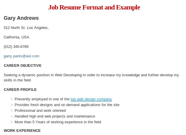 The 25+ best Job resume format ideas on Pinterest Cv format for - resume format and example