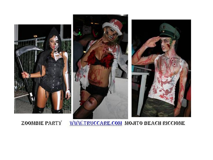 Serata zoombi - discoteca Rimini - Mojito BEACH - make up e styling zoombie Serena Di Paolo  www.truccare.com