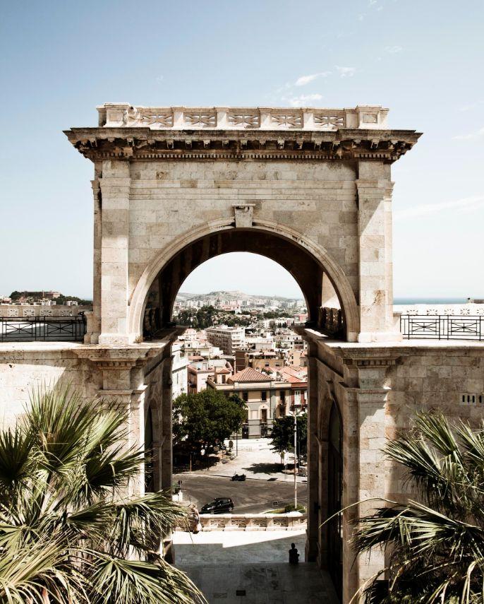 The medieval quarter in Cagliari, Sardinia.