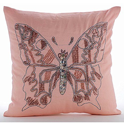 Luxury Pink Throw Pillow Covers, Beaded Butterfly Pillows... https://www.amazon.com/dp/B016H8WFRO/ref=cm_sw_r_pi_dp_x_YVD.ybXWFTD1W
