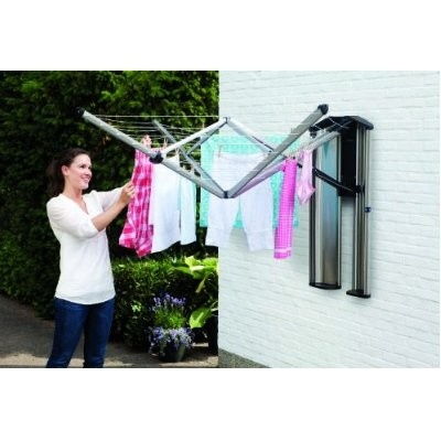 Brabantia Wallfix Rotary Dryer with Storage Box- comes with a protection storage box so it can be easily stored away when not in use.