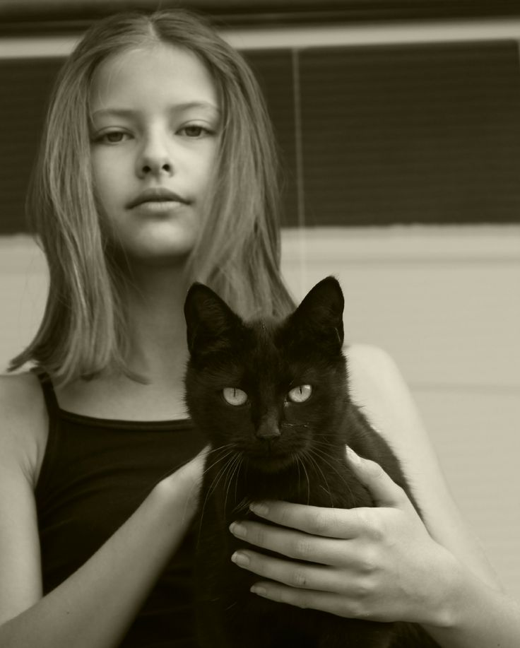Girl and black witch