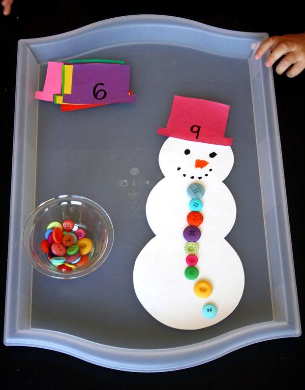 counting snowman preschool winter activity