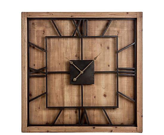 Настенные часы - Дерево (пихта) - текстура дерева, В100,Ш8,Д100