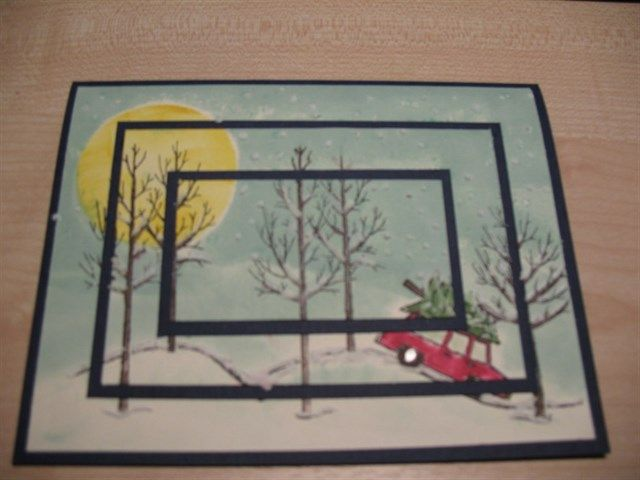 triple layer christmas card