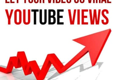 I will give you 1000 REAL youtube views and 25 likes with a natural pattern over a whole week 140  views a day for $10