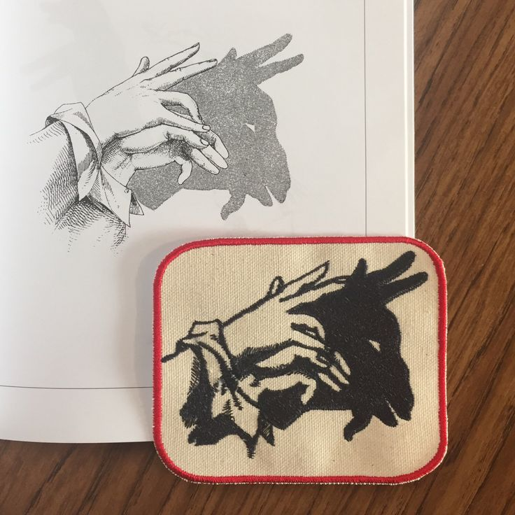 Hand shadow puppet patch: goat by TenYellowEyes on Etsy https://www.etsy.com/listing/291529237/hand-shadow-puppet-patch-goat