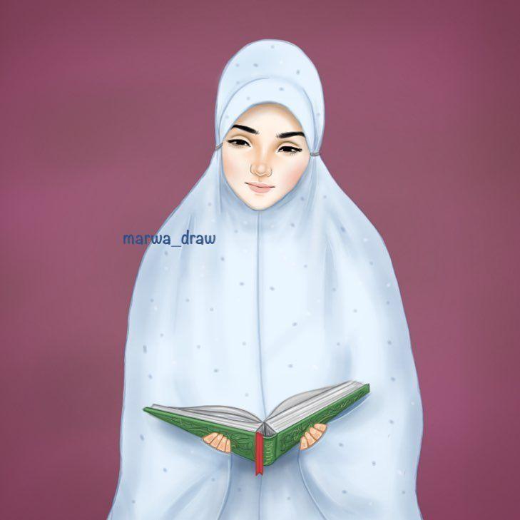 صور رسم بنات كرتون رمزيات رسومات انمي للانستقرام Islamic Girl Islam Women Muslim Fashion Outfits