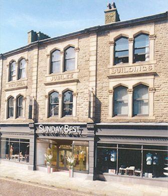 SUNDAY BEST    Victoria Jubilee Buildings  Bank Street, Rawtenstall  Rossendale  Lancashire  BB4 8DY