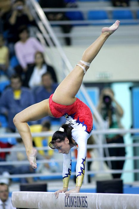 Romanian Gymnast Catalina Ponor - an excellent beam worker, I'm sure she'll be in London this summer.
