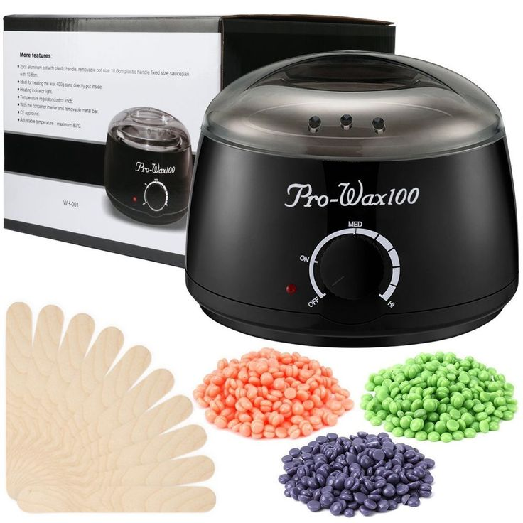 Electric Wax Warmer Set Kit Hair Removal 300g Hard Wax Beans 10 Applicator Stick #Esarora #Custom