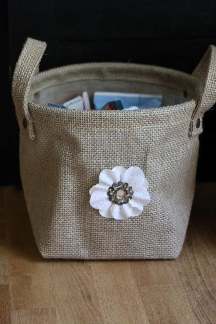 burlap bag for storage