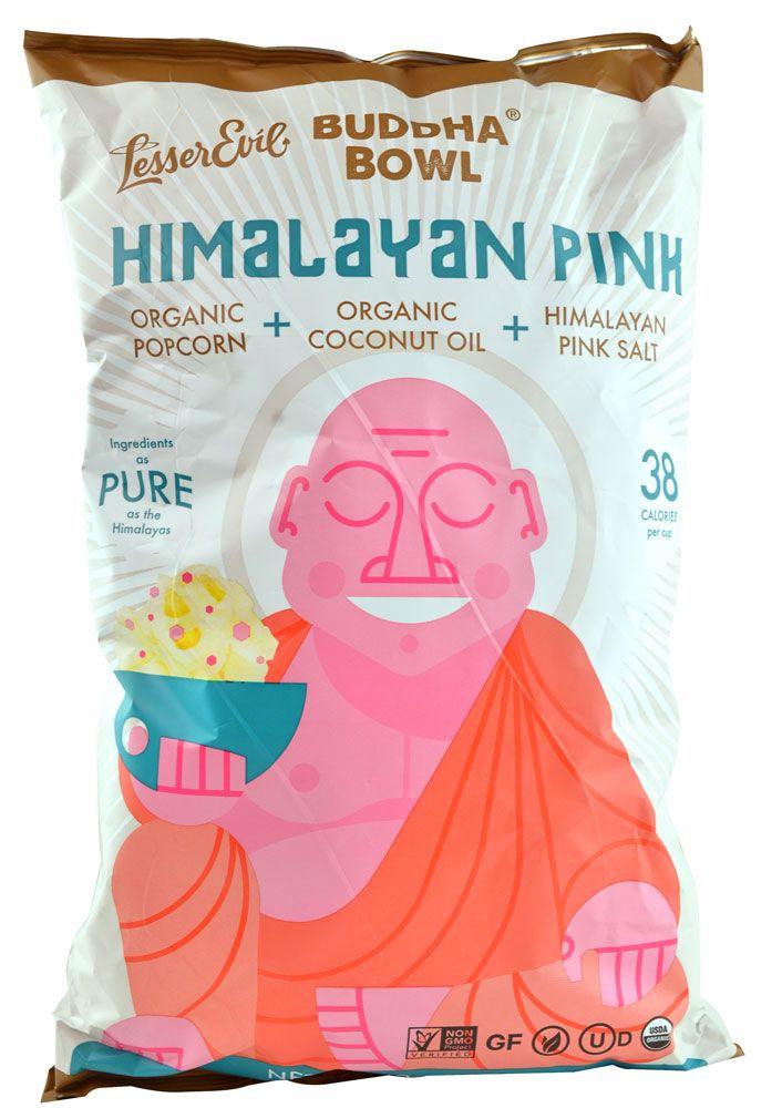 LesserEvil Budda Bowl® Organic Popcorn Himalayan Pink
