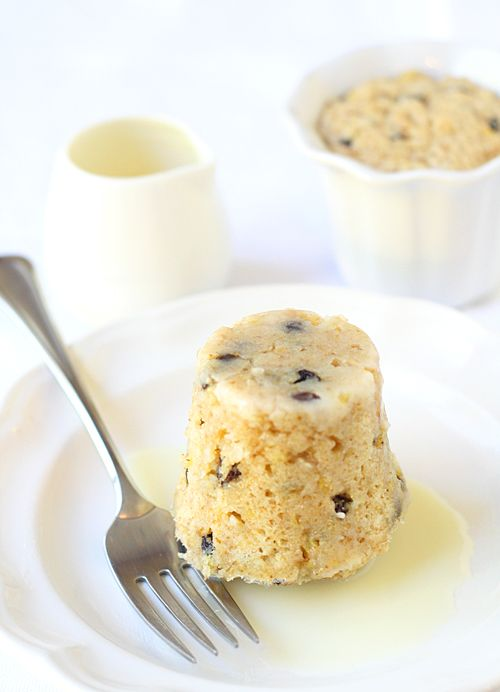 Spotted Dick Steamed Pudding With White Chocolate Butter Sauce