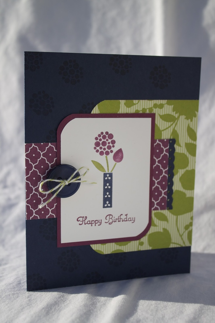 JennyLynne Designs: Color Challenge 216:Navy, Razzleberry, and LimeadeCards Stampinup, Crafts Ideas, Cards Ideas, Papercraft Ideas, Cards Birthday, Birthdays, Happy Birthday Cards, Summer Smooches, Paper Crafts