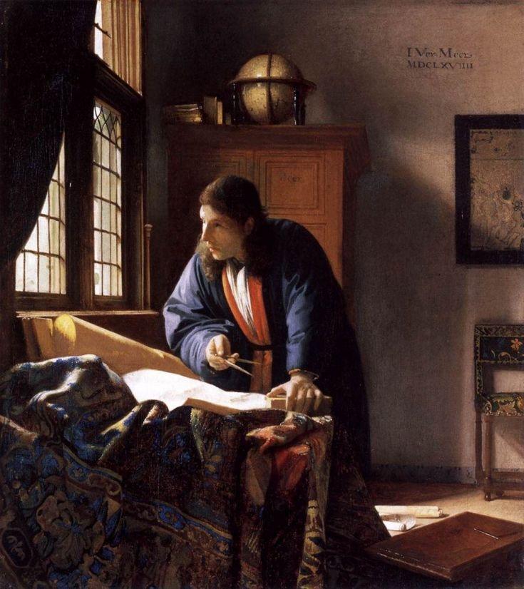 Географ  Ян Вермеер  1660-е , 53×46 см