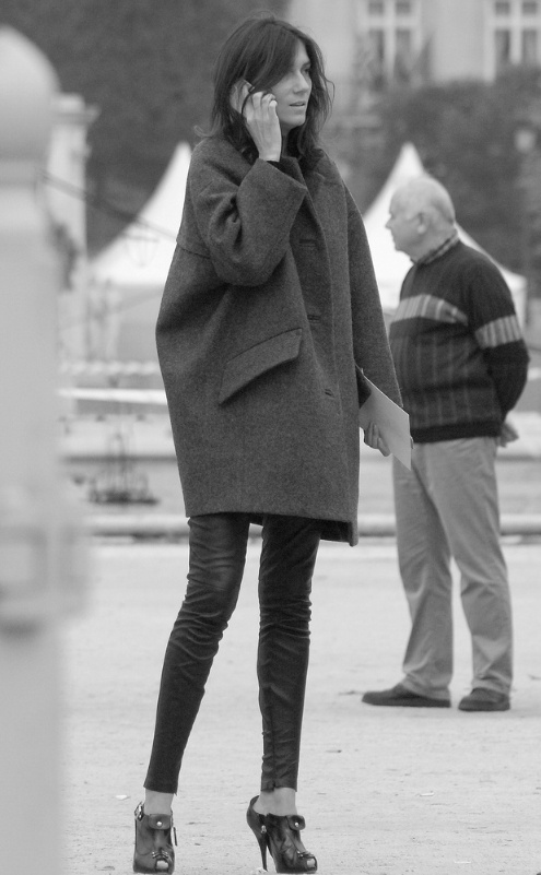 love the shape of the coat