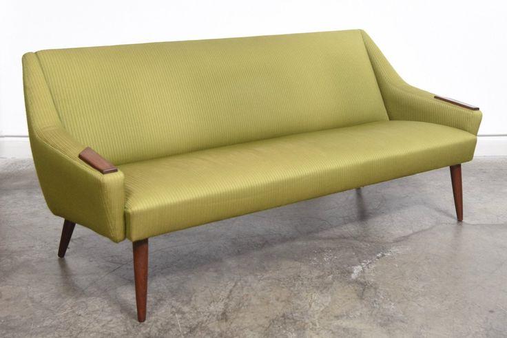 1960s Danish Sofa On Turned Teak Legs | vinterior.co
