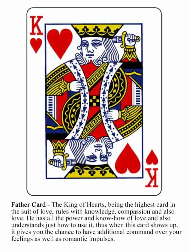 King Of Hearts Divination Cards Tarot Card Meanings Cards