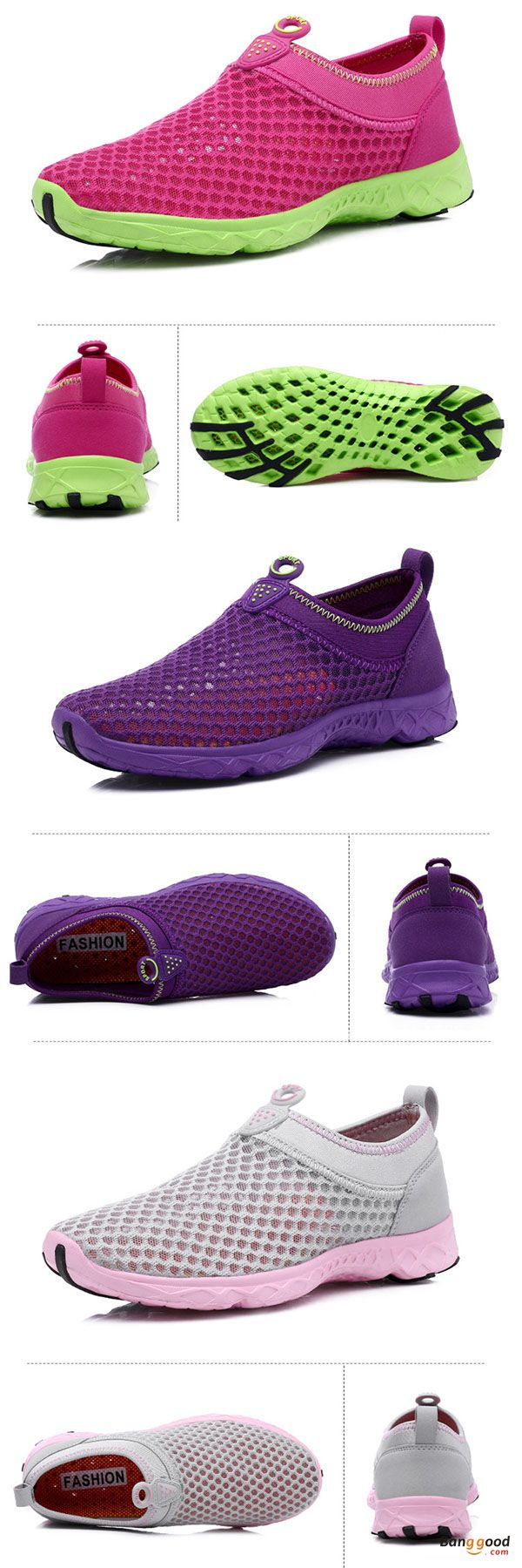 US$24.86 + Free shipping. Size(US): 5~9. Color: Light Pink, Purple, Rose Red. Upper Material: Mesh. Fall in love with casual and sport style! Summer Sandals, Women Flat Sandals, shoes flats, shoes sandals, Casual, Outdoor, Comfortable.