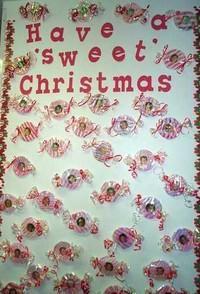 Peppermint Candies Christmas Bulletin Board Idea