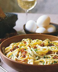 Linguine Carbonara.  It's what's for dinner tonight.