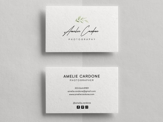 Business Card Template Business Cards Business Card Template Photog Photography Business Cards Template Photography Business Cards Minimalist Business Cards