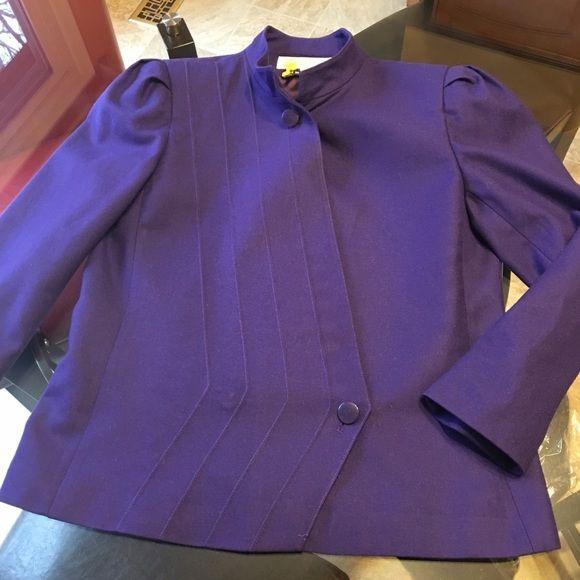 Super cute blazer by Gloria Vanderbilt - Size 10 100% wool Super cute blazer by Gloria Vanderbilt - Size 10. Such a pretty purple.   Super sassy design. Freshly dry cleaned. Beautiful. Gloria Vanderbilt Jackets & Coats Blazers
