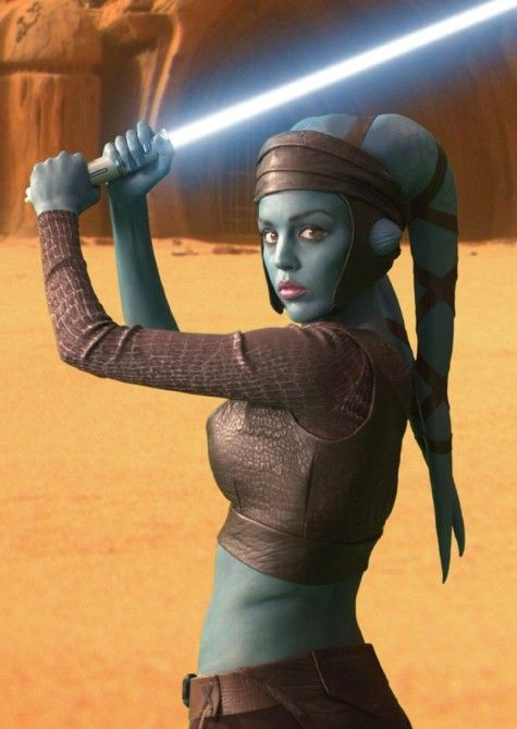 """Twi'Lek Cosplay. The had would fix the whole """"How do I blend that"""" problem"""