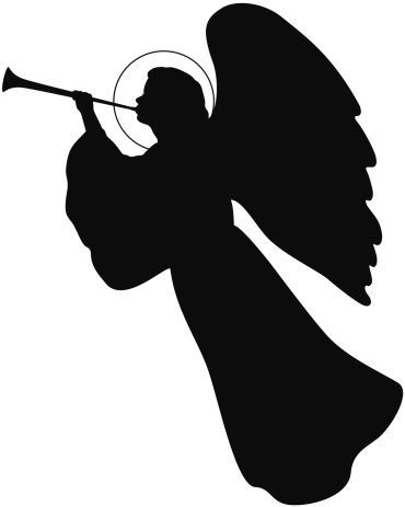 christmas angels silhouette thangel signs pinterest silhouettes angel and 4156