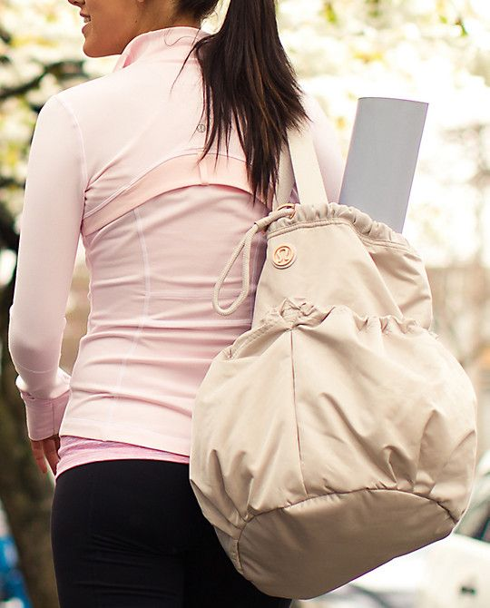 New yoga bag... Gotta have!!!  Even has compartment for your dirty gym clothes post-workout!