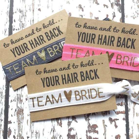Bachelorette Party Hair Tie Favor by ElasticHairBandz