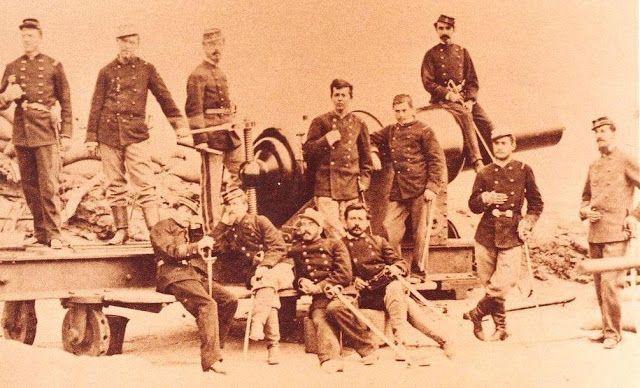 Grupo de soldados chilenos 1881