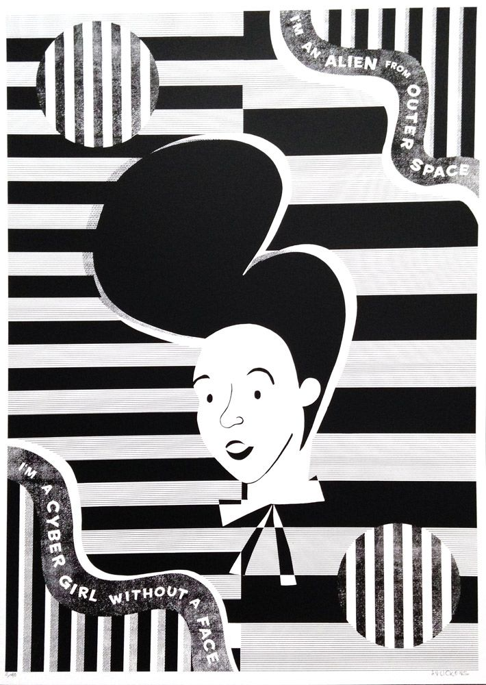 My Janelle Monáe screen print of the electric lady 'Archandroid'