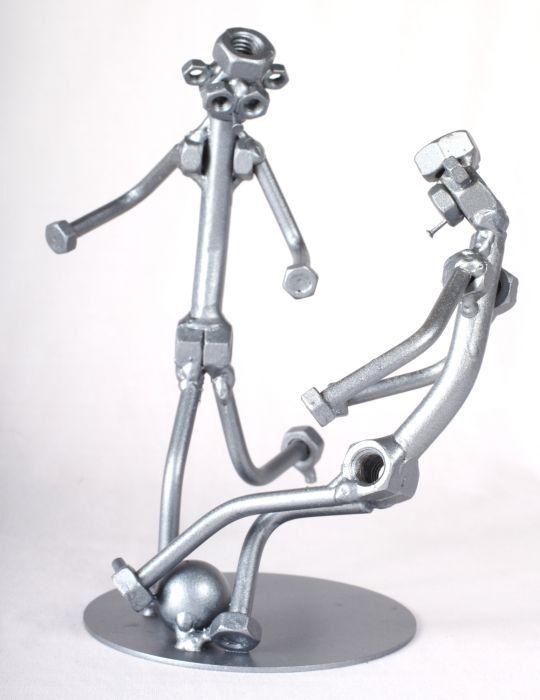 Voetballers  MetalDiorama Metal Art Sculpture