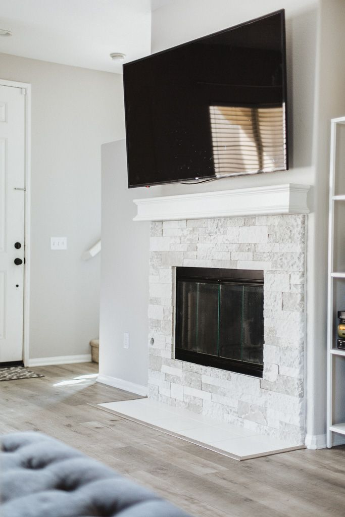 Diy Stone Fireplace Reveal Lots Of Before After