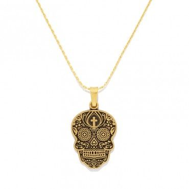 Calaveras pendant by Alex and Ani. Cashing in on the popularity of sugar skulls.