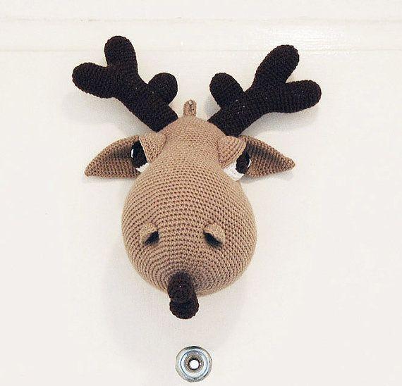 Hogar the Moose - Amigurumi Moose Crochet Pattern - Crochet Wall Decor - Faux Taxidermy