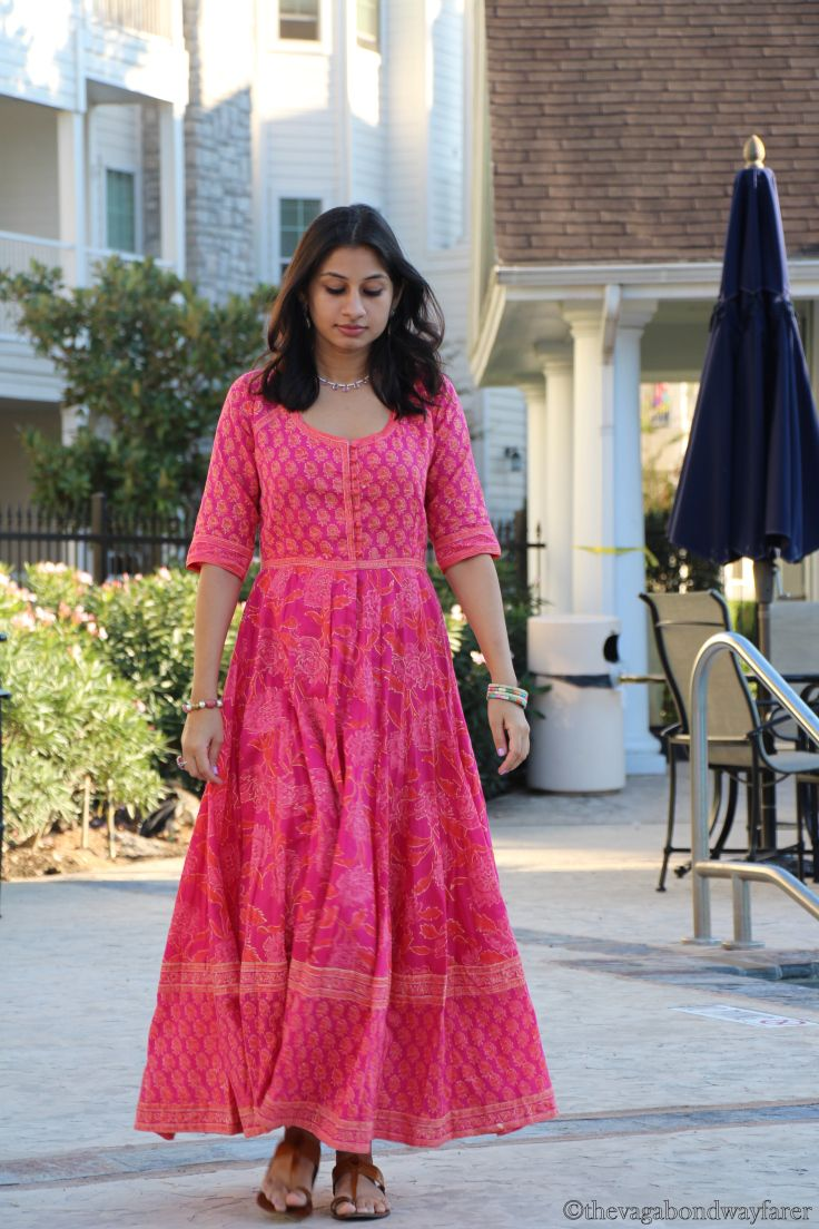 The Vagabond Wayfarer....  maxi dress from Anokhi, Jaipur. block print...indian fashion...boho