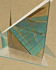 veil of Utopia 30x24cm, oil on canvas, 2014 #art #architecture #Daniel #Mullen #design