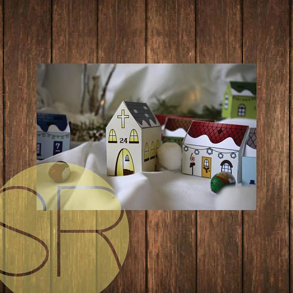 Paper Advent Christmas Village