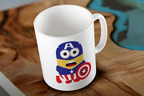 Minion Captain America Parody Two Side White Coffee Mug Mug http://www.amazon.com/dp/B018THPVLI/ref=cm_sw_r_pi_dp_SZHEwb1997ZB9 #mug #printmug #mugs #ceramic #coolmug #minion #captainamerica #parody