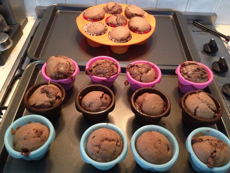 Double choc chip muffins made in the Mistral Ultimate Kitchen machine